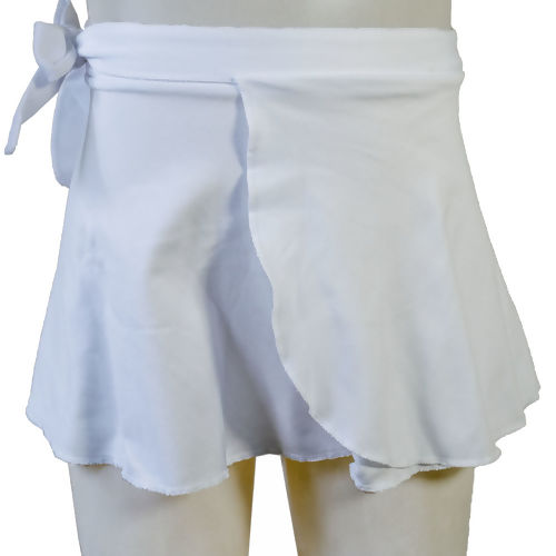 fb973d7504 Saia de Ballet Transpassada Infantil Branca da Capézio