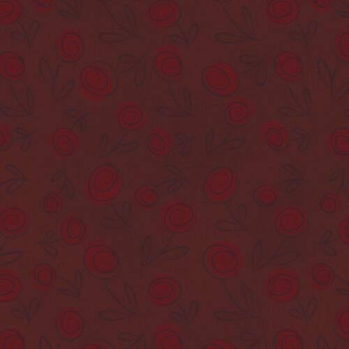 72cd39bddf Tecido Estampado Floral Doodle 100% Algodão 0,50 x1,50 mt - Sangue