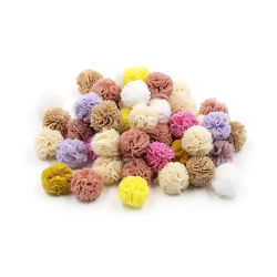 Pompom Solto 15 mm Multicor Ref. 01 - Pct c/ 50 uni