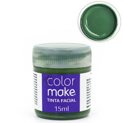 Tinta Facial Líquida 15 ml Verde - Colormake